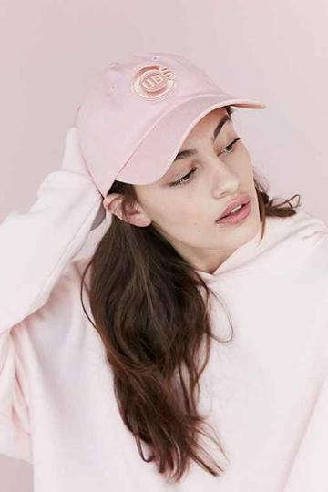 Urban Outfitters American Needle X Uo Tonal Strap-back Hat,pink,one Size