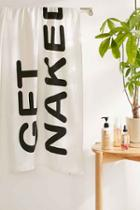 Urban Outfitters Get Naked Bath Towel,black & White,one Size