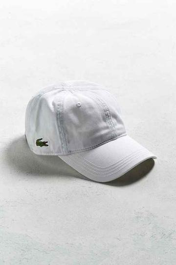 Urban Outfitters Lacoste Classic Croc Hat,white,one Size