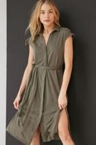 Urban Outfitters Silence + Noise Collared Knit Shirt Midi Dress