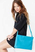 Urban Outfitters Silence + Noise Double Zip Shoulder Bag,turquoise,one Size