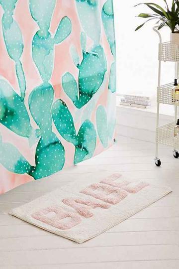 Urban Outfitters Babe Bath Mat,peach,one Size