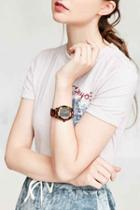 Urban Outfitters Nixon Time Teller Acetate Watch,brown,one Size