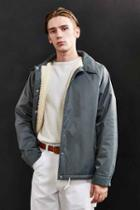 Urban Outfitters Uo Sherpa Lined Coach Jacket,olive,m