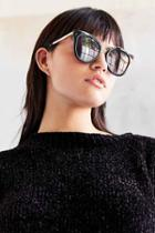 Urban Outfitters Backstage Cat-eye Sunglasses,black,one Size