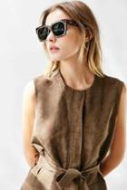 Urban Outfitters Quay Midnight Runner Sunglasses,tortoise,one Size