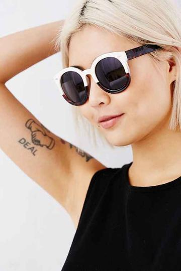Urban Outfitters Emma Sunglasses,ivory,one Size