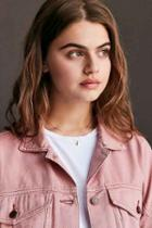 Urban Outfitters Mini Tag Short Necklace,pink,one Size