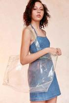 Urban Outfitters Shania Glitter Tote Bag,clear,one Size
