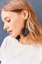 Urban Outfitters Genesis Statement Drop Earring,black,one Size