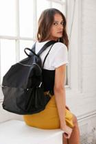 Urban Outfitters Silence + Noise Nylon Backpack,black,one Size