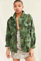 Urban Outfitters Vintage Camo Military Jacket,green,m/l