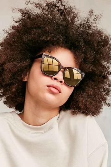 Urban Outfitters Cameron Square Sunglasses,brown,one Size