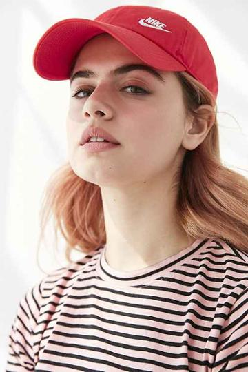 Urban Outfitters Nike Twill H86 Baseball Hat,red,one Size