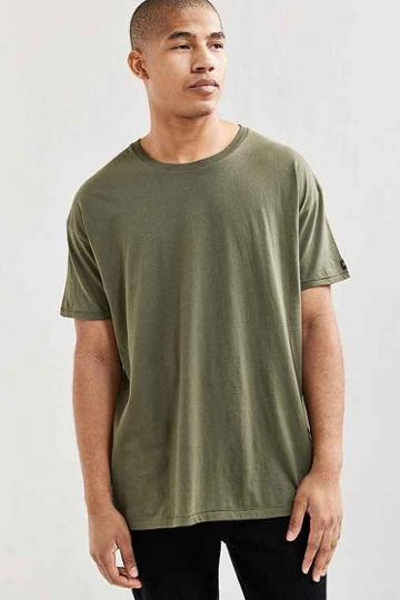 Urban Outfitters Zanerobe Rugger Tee,olive,l