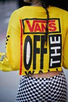 Urban Outfitters Vans & Uo Misfit Long-sleeve Tee,yellow,m