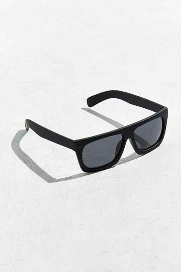 Urban Outfitters Flat Top Wide Sunglasses,washed Black,one Size