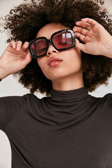Urban Outfitters Palisades Square Sunglasses,black,one Size