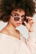 Urban Outfitters Camille Painted Half-frame Sunglasses,gold,one Size