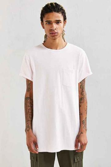 Urban Outfitters Feathers Heavy Roll Sleeve Tee,blush,m