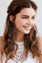 Urban Outfitters Regal Rose Ancient Myth Braid Ring,silver,one Size
