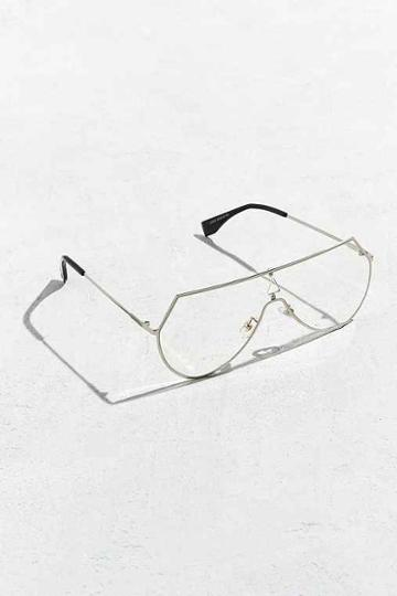 Urban Outfitters Roial Terelli Readers,silver,one Size