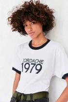 Urban Outfitters Jordache 1979 Ringer Tee,white,m