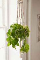 Urban Outfitters Iris Macrame Hanging Planter,natural,one Size