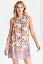 Urban Outfitters Ecote Scarf Print Mock Neck Mini Shift Dress