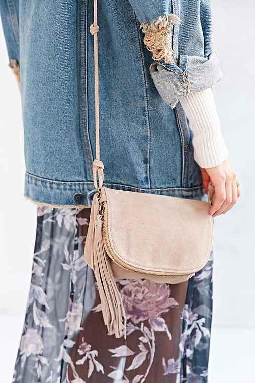 Suede Prairie Shoulder Bag