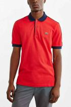 Urban Outfitters Lacoste L!ve Colorblock Polo Shirt,red,m