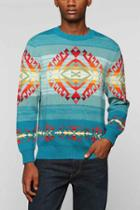 Urban Outfitters Pendleton Jacquard Sweater,turquoise,m