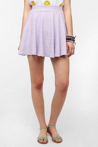 Pins And Needles Textured Circle Skirt