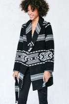 Urban Outfitters Ecote Patterned Blanket Wrap Coat