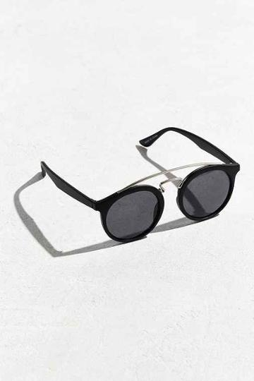 Urban Outfitters Brow Bar Round Sunglasses,black,one Size