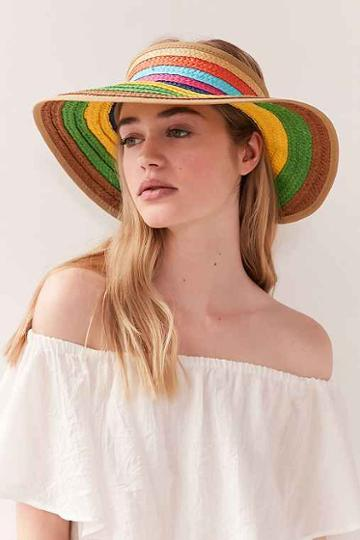 Urban Outfitters Rainbow Packable Visor,assorted,one Size