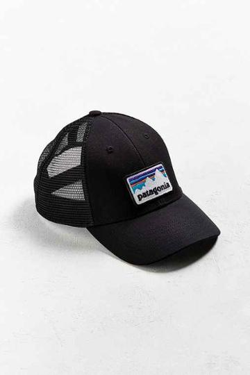 Urban Outfitters Patagonia Shop Sticker Patch Trucker Hat,black,one Size