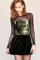 Urban Outfitters Urban Renewal Remade Velvet Mini Skirt