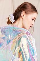 Urban Outfitters Velvet Hair Scrunchie Set,blue Multi,one Size