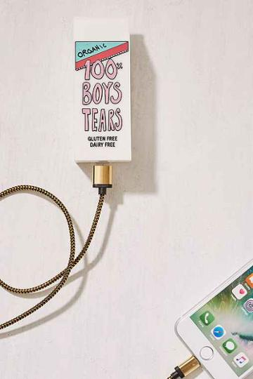 Urban Outfitters Valfre Boys Tears Portable Power Charger,white,one Size