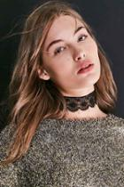 Urban Outfitters Wren Lace Choker Necklace,black,one Size