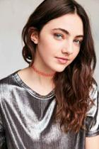 Urban Outfitters Tattoo Choker Necklace,pink,one Size