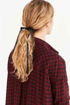 Urban Outfitters Victorian Slim Hair Bow,black,one Size
