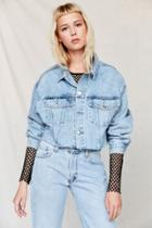 Urban Outfitters Urban Renewal Recycled Frayed Cropped Denim Jacket