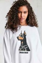 Urban Outfitters Dog Sweatshirt,white,s