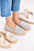 Urban Outfitters Soludos Canvas Platform Smoking Slipper