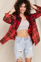 Urban Outfitters Urban Renewal Recycled Levi's Destroyed Denim Bermuda Short