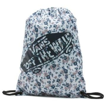 Vans Benched Cinch Bag (white Ditsy Blooms)