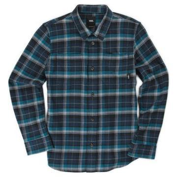 Vans Boys Banfield Flannel Shirt (dress Blues Corsair)
