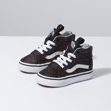 Vans Toddler Glitter Stars Sk8-hi Zip (black/true White)